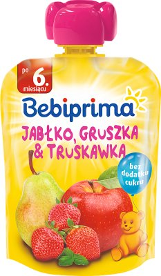Bebiprima Mus owocowy Jabłko, gruszka & truskawka
