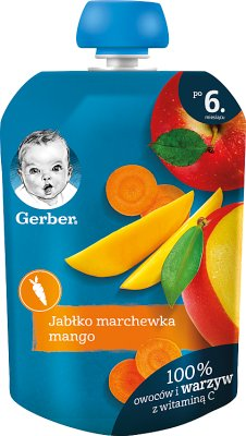 Gerber Deser w tubce jabłko marchew mango