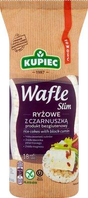 Kupiec Slim Wafle ryżowe z czarnuszką