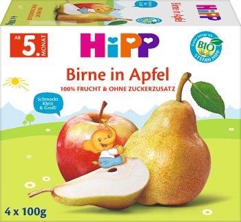 HiPP BIO Przecier owocowy jabłka-gruszki po 4. miesiącu 400 g (4 sztuki)