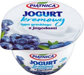 Piątnica jogurt typu greckiego 0% tłuszczu z jagodami