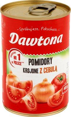 Dawtona in Scheiben geschnittenen Tomaten mit Zwiebeln