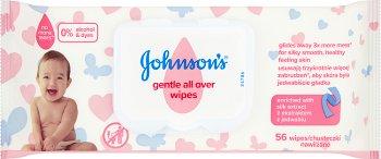 Johnson's Łagodne chusteczki oczyszczające o wielofunkcyjnym zastosowaniu