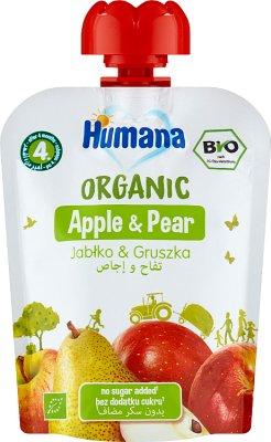 Humana 100% Organic mus jabłko-gruszka