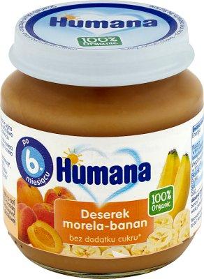 Humana 100% Organic deserek morela-banan