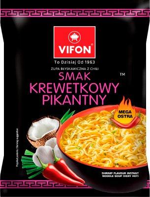 Vifon суп быстрого приготовления креветок мега острый