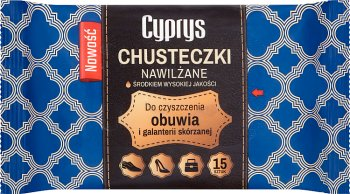 Libella Cyprys Chusteczki nawilżane do czyszczenia obuwia i galanterii skórzanej