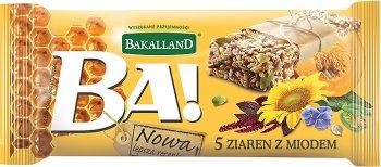 Bakalland Ba! baton zbożowy 5 ziaren z miodem