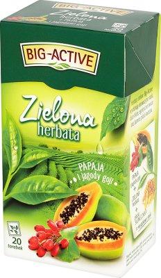 Big Active Zielona Herbata papaja i jagody goji