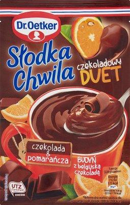 Dr.Oetker Słodka Chwila Budyń Czekoladowy Duet czekolada & pomarańcza