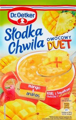Dr.Oetker Słodka Chwila Kisiel Owocowy Duet mango & ananas
