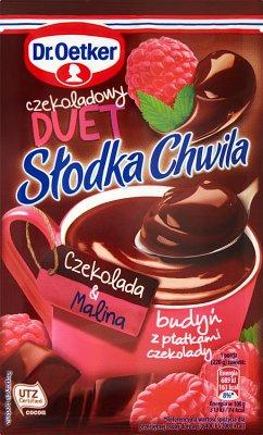 Dr.Oetker Słodka Chwila Budyń Czekoladowy Duet czekolada & malina
