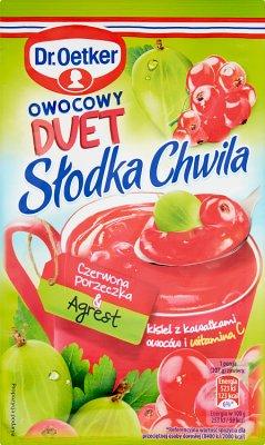Dr.Oetker Słodka Chwila Kisiel Owocowy Duet czerwona porzeczka & agrest