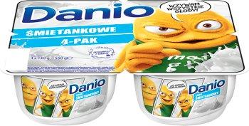 Danone Danio Białe Serek homogenizowany o smaku śmietankowym 4 x 140 g