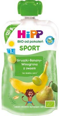 HiPP Sport Gruszki-Banany-Winogrona z owsem BIO