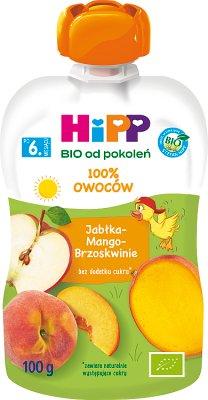 Hipp Wesołe Owoce Mus owocowy BIO Jabłka-Mango-Brzoskwinie