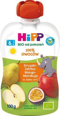 Hipp Wesołe Owoce Mus owocowy BIO Gruszki-Jabłka-Mango-Marakuja