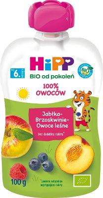 Mus jabłka brzoskwinie owoce leśne BIO
