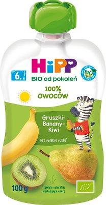 HiPPis Gruszki Banany Kiwi BIO