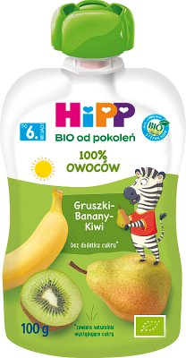 HiPP Gruszki-Banany-Kiwi BIO