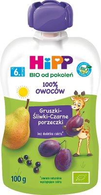 HiPPiS Gruszki Śliwki Czarne porzeczki BIO