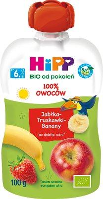 Mus jabłka truskawki banany BIO