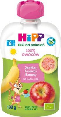 Mus jabłka guawa banany BIO