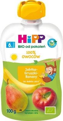 Hipp Wesołe Owoce Mus owocowy BIO Jabłka-Gruszki-Banany