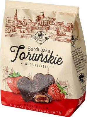 Kopernik Pierniczki nadziewane o smaku truskawkowym w czekoladzie