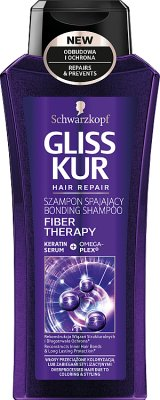 Gliss Kur Fiber Therapy Szampon do włosów przeciążonych koloryzacją lub zabiegami stylizacyjnymi