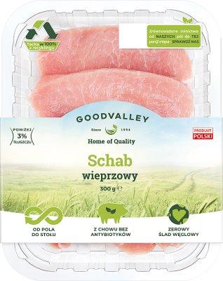 Goodvalley Schab wieprzowy w plastrach bez kości z hodowli bez użycia antybiotyków i bez GMO.