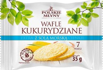 Polskie Młyny Wafle kukurydziane extra cienkie z solą morską