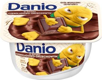 Danio serek czekoladowo - orzechowy homogenizowany, Danone