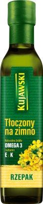 Kujawski Olej rzepakowy tłoczony na zimno