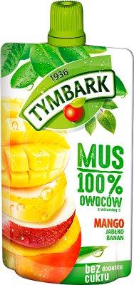 Tymbark Mus 100% owoców mango,jabłko,banan
