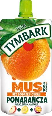 Tymbark Mousse 100% orange fruit, passion fruit, apple, banana