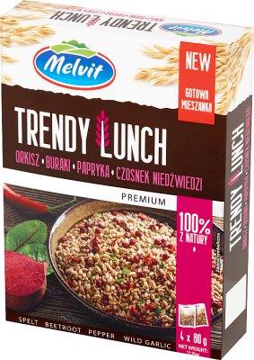 Melvit Trendy Lunch Mieszanka orkisz,buraki,papryka,czosnek niedźwiedzi 4x80 g