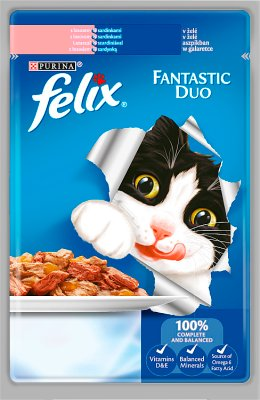 Felix Fantastic Duo Cat food with salmon and sardine in jelly