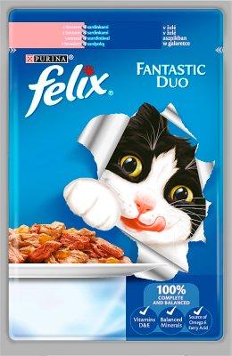 Felix Fantastic Duo Karma dla kotów z łososiem i sardynką w galaretce