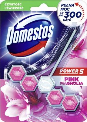 Domestos WC Power 5 zawieszka z kostką Pink Magnolia