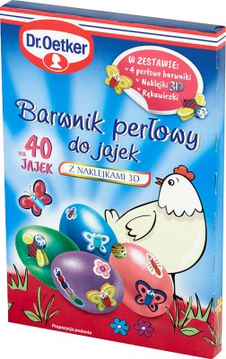 Dr. Oetker Egg dye with 3D stickers