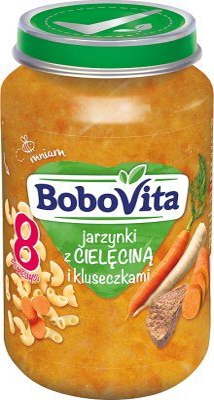 BoboVita obiadek jarzynki z cielęciną i kluseczkami