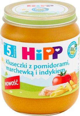 HiPP BIO Kluseczki z pomidorami marchewką i indykiem po 5. miesiącu 125 g