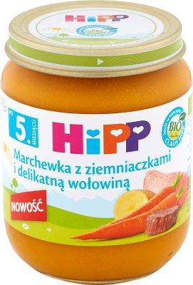 Hipp Marchewka z ziemniaczkami i delikatną wołowiną