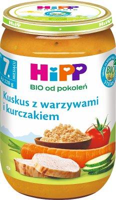 HiPP Kuskus z warzywami i kurczakiem BIO