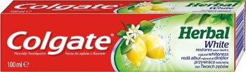 Colgate Herbal White z olejkiem cytrynowym.Pasta do zębów z fluorem
