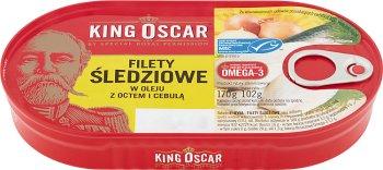 King Oscar Filety śledziowe w oleju z octem i cebulą