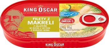King Oscar Filety z makreli z jalapeno w oleju z octem z białego wina