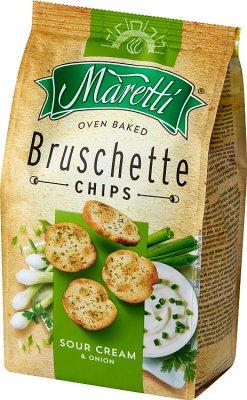 Bruschette Maretti chrupki chlebowe o smaku śmietanowo-cebulowym