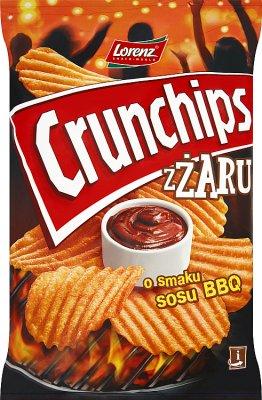 Crunchips Z Żaru Chipsy o smaku sosu BBQ